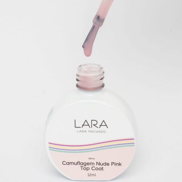 Lara Machado Top Coat Camuflagem Nude Pink 12ml